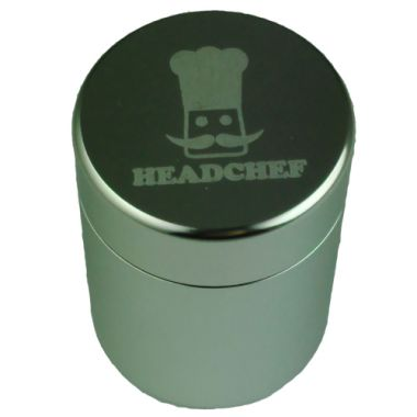Head Chef Stash Pot - Tall Silver