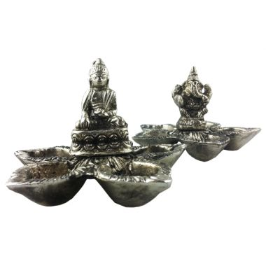 Metal Incense Flower Dish
