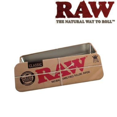 RAW Roll Caddy Metal Rolling Case - Kingsize Slim